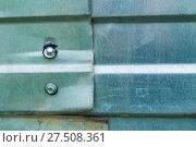 Купить «Corrugated zinc metal texture. Grunge metal texture background», фото № 27508361, снято 27 мая 2017 г. (c) Зезелина Марина / Фотобанк Лори