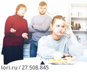 Купить «Offended girl after discord with family», фото № 27508845, снято 27 ноября 2017 г. (c) Яков Филимонов / Фотобанк Лори
