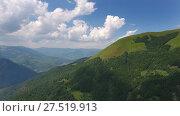 Купить «Aerial landscape with mountain in Montenegro», видеоролик № 27519913, снято 17 декабря 2017 г. (c) Михаил Коханчиков / Фотобанк Лори