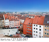 Купить «Вид сверху на город Нюрнберг Бавария, Германия», фото № 27520097, снято 24 декабря 2012 г. (c) Наталья Волкова / Фотобанк Лори