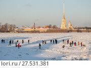 Купить «Sunny winter day in St. Petersburg», фото № 27531381, снято 31 января 2018 г. (c) Юлия Бабкина / Фотобанк Лори