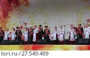 Купить «День города Анапы 23 сентября 2017. Кубанский казачий ансамбль исполняет песни», видеоролик № 27549409, снято 23 сентября 2017 г. (c) Олег Хархан / Фотобанк Лори
