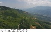 Купить «Aerial landscape with mountain in Montenegro», видеоролик № 27572013, снято 26 ноября 2017 г. (c) Михаил Коханчиков / Фотобанк Лори