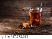 Купить «A glass of black tea», фото № 27572685, снято 29 января 2018 г. (c) Юрий Шурчков / Фотобанк Лори
