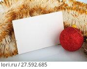Купить «Christmas greeting card», фото № 27592685, снято 16 февраля 2019 г. (c) PantherMedia / Фотобанк Лори
