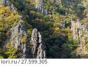 Купить «Bodetal Tor im Herbst Harz», фото № 27599305, снято 23 июля 2019 г. (c) PantherMedia / Фотобанк Лори