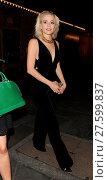 Pixie Lott leaving the Haymarket Theatre in an all black playsuit... (2016 год). Редакционное фото, фотограф Will Alexander / WENN.com / age Fotostock / Фотобанк Лори
