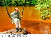 Купить «Girl on a jungle swing», фото № 27608077, снято 27 февраля 2020 г. (c) easy Fotostock / Фотобанк Лори