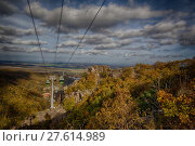 Купить «Bodetal im Herbst HarSeilbahn», фото № 27614989, снято 23 июля 2019 г. (c) PantherMedia / Фотобанк Лори