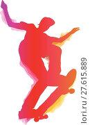 Купить «Skateboarder performing a trick», иллюстрация № 27615889 (c) PantherMedia / Фотобанк Лори