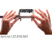 Купить «Small courage concept», иллюстрация № 27616501 (c) PantherMedia / Фотобанк Лори