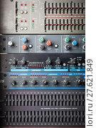 Купить «Buttons in sound studio», фото № 27621849, снято 17 июня 2019 г. (c) PantherMedia / Фотобанк Лори