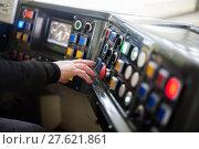 Купить «Tram driving buttons», фото № 27621861, снято 21 января 2019 г. (c) PantherMedia / Фотобанк Лори