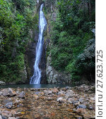 Купить «Tropical rainforest waterfall», фото № 27623725, снято 15 ноября 2018 г. (c) PantherMedia / Фотобанк Лори