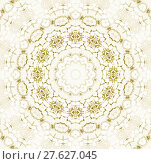 Купить «Abstract geometric seamless background. Delicate concentric ornament in light brown and beige, centered and blurred.», фото № 27627045, снято 21 октября 2018 г. (c) PantherMedia / Фотобанк Лори