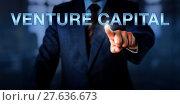 Купить «Angel Investor Touching VENTURE CAPITAL», фото № 27636673, снято 27 июня 2019 г. (c) PantherMedia / Фотобанк Лори