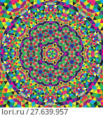 Купить «Mosaic: abstract pattern with triangles, can be used as background.», иллюстрация № 27639957 (c) PantherMedia / Фотобанк Лори