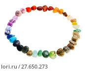 Купить «circumference from mineral tumbled gem stones», фото № 27650273, снято 26 сентября 2018 г. (c) PantherMedia / Фотобанк Лори
