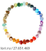 Купить «circumference from natural mineral gemstones», фото № 27651469, снято 26 сентября 2018 г. (c) PantherMedia / Фотобанк Лори