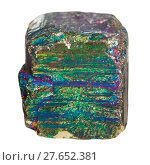 Купить «piece of iridescent pyrite mineral stone», фото № 27652381, снято 27 мая 2019 г. (c) PantherMedia / Фотобанк Лори
