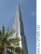 Купить «burj khalifa», фото № 27655121, снято 27 мая 2019 г. (c) PantherMedia / Фотобанк Лори
