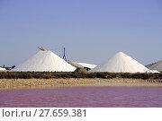 Купить «Site operating sea salt saline Aigues-Mortes», фото № 27659381, снято 20 сентября 2018 г. (c) PantherMedia / Фотобанк Лори