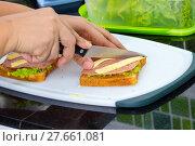 Купить «Making a sandwich», фото № 27661081, снято 19 декабря 2018 г. (c) PantherMedia / Фотобанк Лори