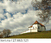 Купить «up to the sanctuary of st. ursula on the pilgramsberg in the bavarian forest», фото № 27663121, снято 19 марта 2019 г. (c) PantherMedia / Фотобанк Лори