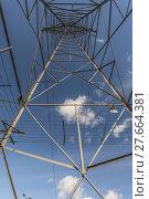 Купить «Looking up through a Pylon», фото № 27664381, снято 16 июля 2019 г. (c) PantherMedia / Фотобанк Лори