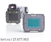 Купить «professional medium format proffesional digital camera», фото № 27677953, снято 23 октября 2018 г. (c) PantherMedia / Фотобанк Лори