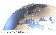Купить «Europe on metallic Earth», фото № 27689353, снято 17 июня 2019 г. (c) PantherMedia / Фотобанк Лори