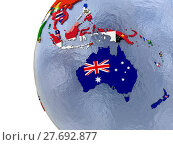 Купить «Political Australasia map», фото № 27692877, снято 18 января 2019 г. (c) PantherMedia / Фотобанк Лори