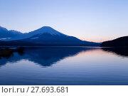 Купить «Mountain Fuji and lake at sunset», фото № 27693681, снято 16 июля 2019 г. (c) PantherMedia / Фотобанк Лори