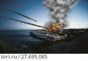 Купить «Destroying the city», фото № 27695085, снято 19 февраля 2018 г. (c) PantherMedia / Фотобанк Лори