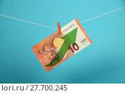Купить «Euro currency growth illustrated over blue», фото № 27700245, снято 15 декабря 2018 г. (c) PantherMedia / Фотобанк Лори