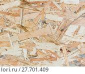 Купить «Close up texture of oriented strand board - OSB», фото № 27701409, снято 19 февраля 2020 г. (c) PantherMedia / Фотобанк Лори