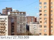 Купить «city building in sunny spring day», фото № 27703009, снято 27 мая 2019 г. (c) PantherMedia / Фотобанк Лори