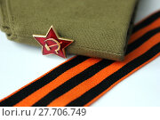 Купить «Red Army man's garrison cap», фото № 27706749, снято 23 мая 2019 г. (c) PantherMedia / Фотобанк Лори