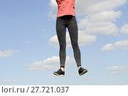 Купить «woman fun joy spring fitness», фото № 27721037, снято 22 июня 2018 г. (c) PantherMedia / Фотобанк Лори