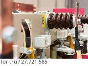 Купить «The high-voltage switch, element of the cell», фото № 27721585, снято 9 декабря 2016 г. (c) Андрей Радченко / Фотобанк Лори