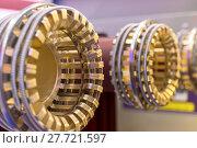 Купить «Elements of a high-voltage switch.», фото № 27721597, снято 9 декабря 2016 г. (c) Андрей Радченко / Фотобанк Лори