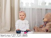 Купить «Baby eight months», фото № 27721885, снято 6 февраля 2018 г. (c) Типляшина Евгения / Фотобанк Лори