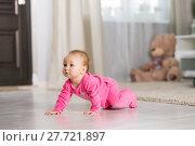 Купить «Baby eight months», фото № 27721897, снято 6 февраля 2018 г. (c) Типляшина Евгения / Фотобанк Лори