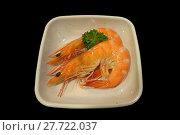 Купить «Cooked shrimp, prawn, seafood», фото № 27722037, снято 26 мая 2018 г. (c) PantherMedia / Фотобанк Лори