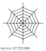 Купить «Spiderweb icon isolated on white background», иллюстрация № 27723069 (c) Сергей Лаврентьев / Фотобанк Лори