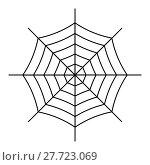 Купить «Spiderweb icon isolated on white background», иллюстрация № 27723069 (c) Сергей Лаврентьев / Фотобанк Лори