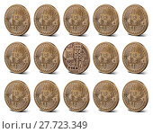 Купить «Bitcoin gold coins, seamless pattern», фото № 27723349, снято 28 февраля 2015 г. (c) Ярослав Данильченко / Фотобанк Лори