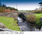 Купить «Old stone bridge with a rivulet on the Dingle peninsula in Ireland», фото № 27726253, снято 26 марта 2019 г. (c) PantherMedia / Фотобанк Лори