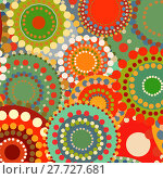 Купить «Textile color retro background ornament circles», фото № 27727681, снято 20 июня 2018 г. (c) PantherMedia / Фотобанк Лори