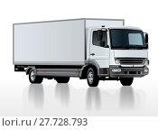 Купить «Vector truck template isolated on white», иллюстрация № 27728793 (c) Александр Володин / Фотобанк Лори